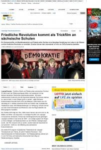Friedliche Revolution kommt als Trickfilm an sŠchsische Schulen
